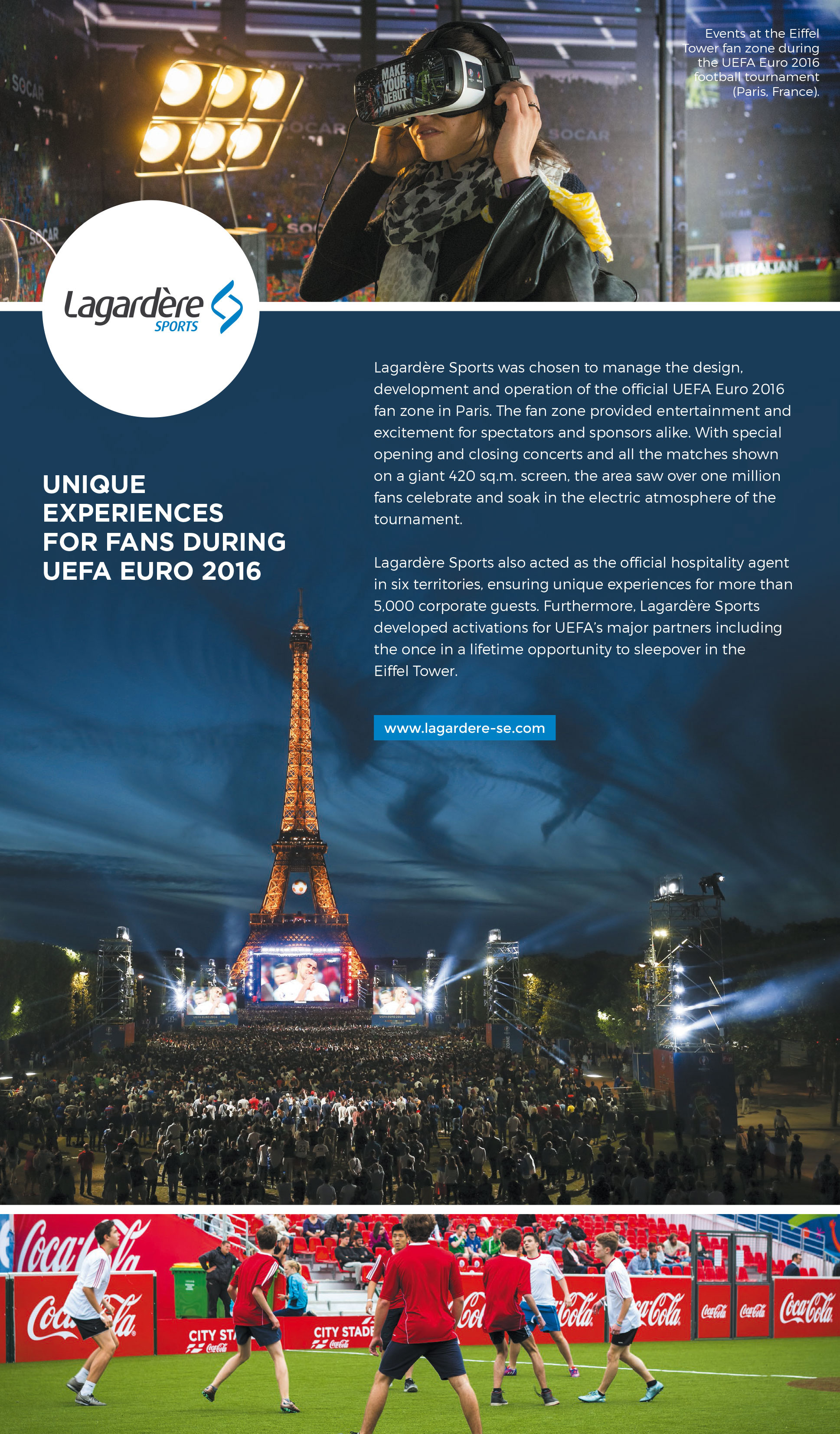 Events at the Eiffel Tower fan zone during the UEFA Euro 2016 football tournament (Paris, France)
