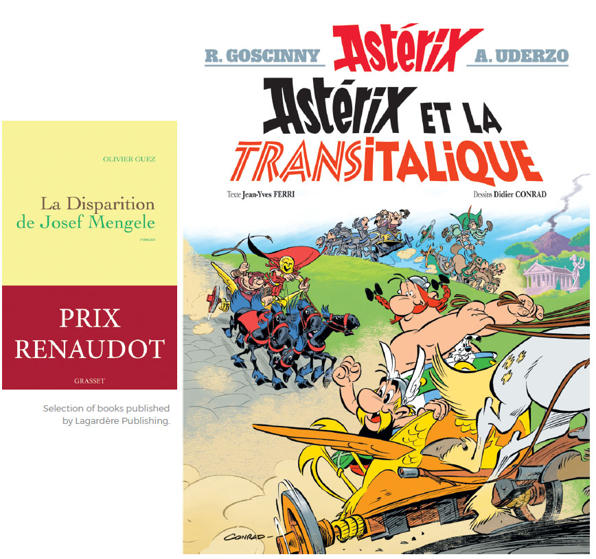 Selection of books published by Lagardère Publishing