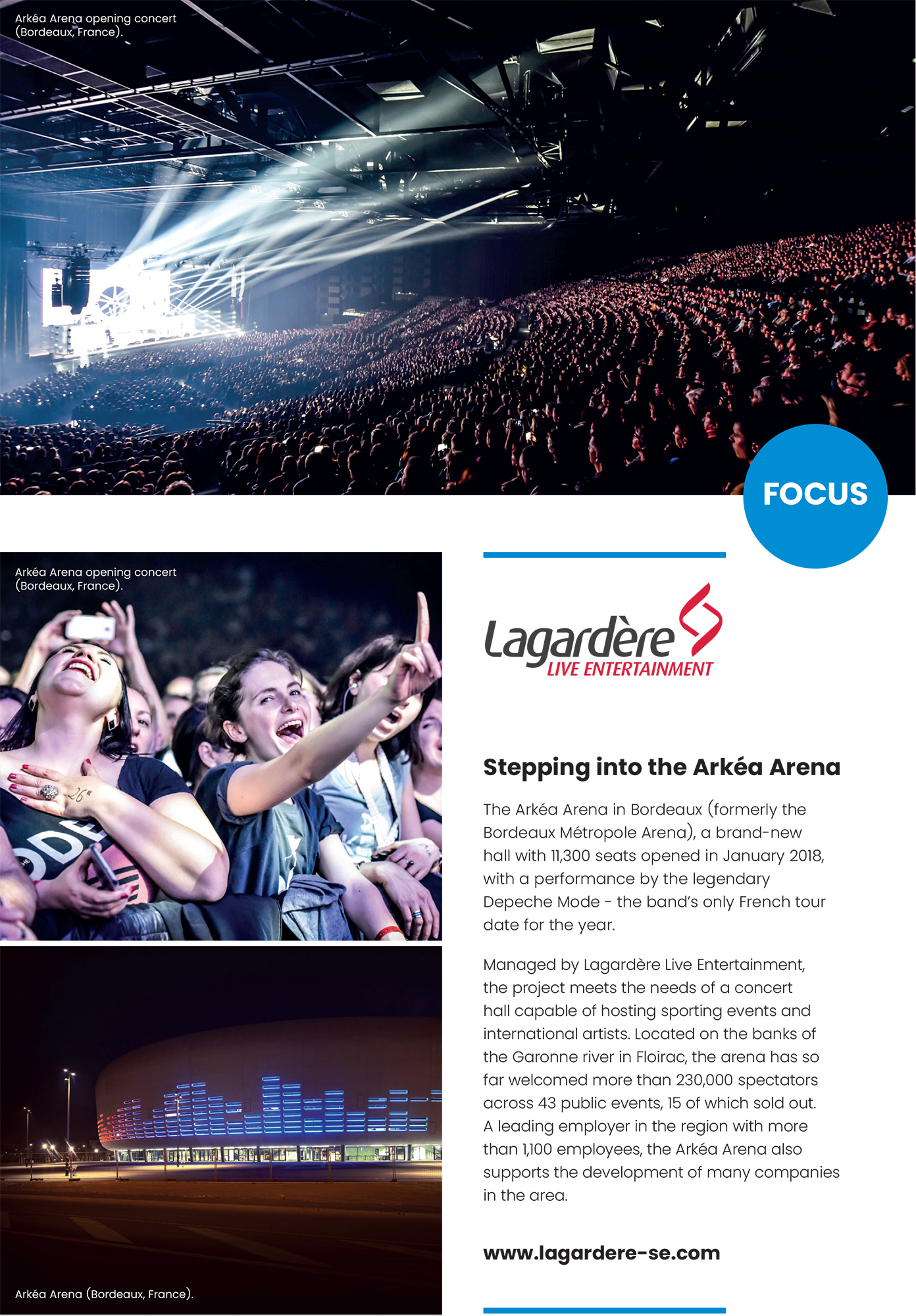 Lagardère Sports and Entertainment: Focus