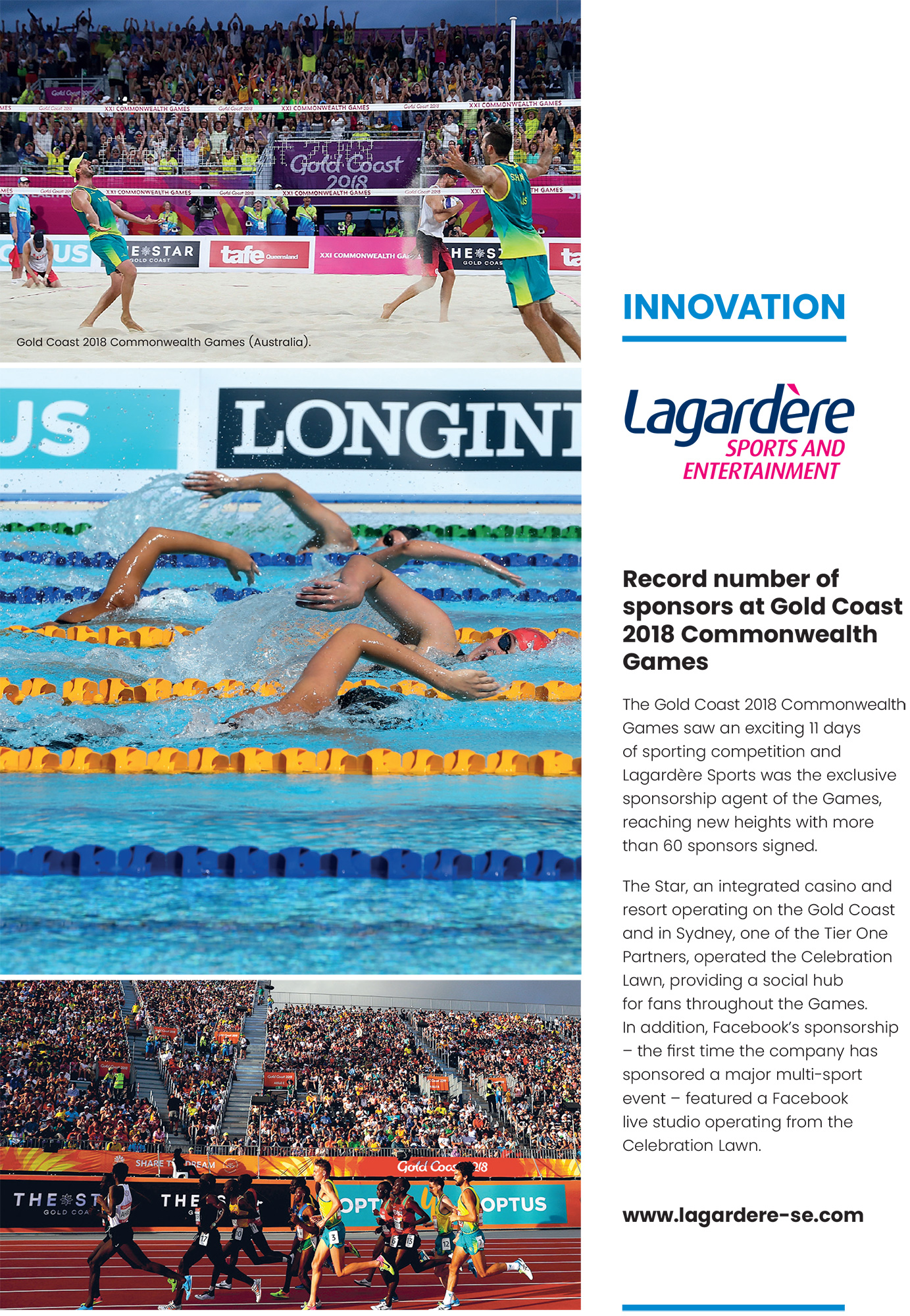 Lagardère Sports and Entertainment: Innovation