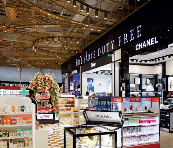 Point de vente BuY Paris Duty Free, aéroport de Paris-CDG