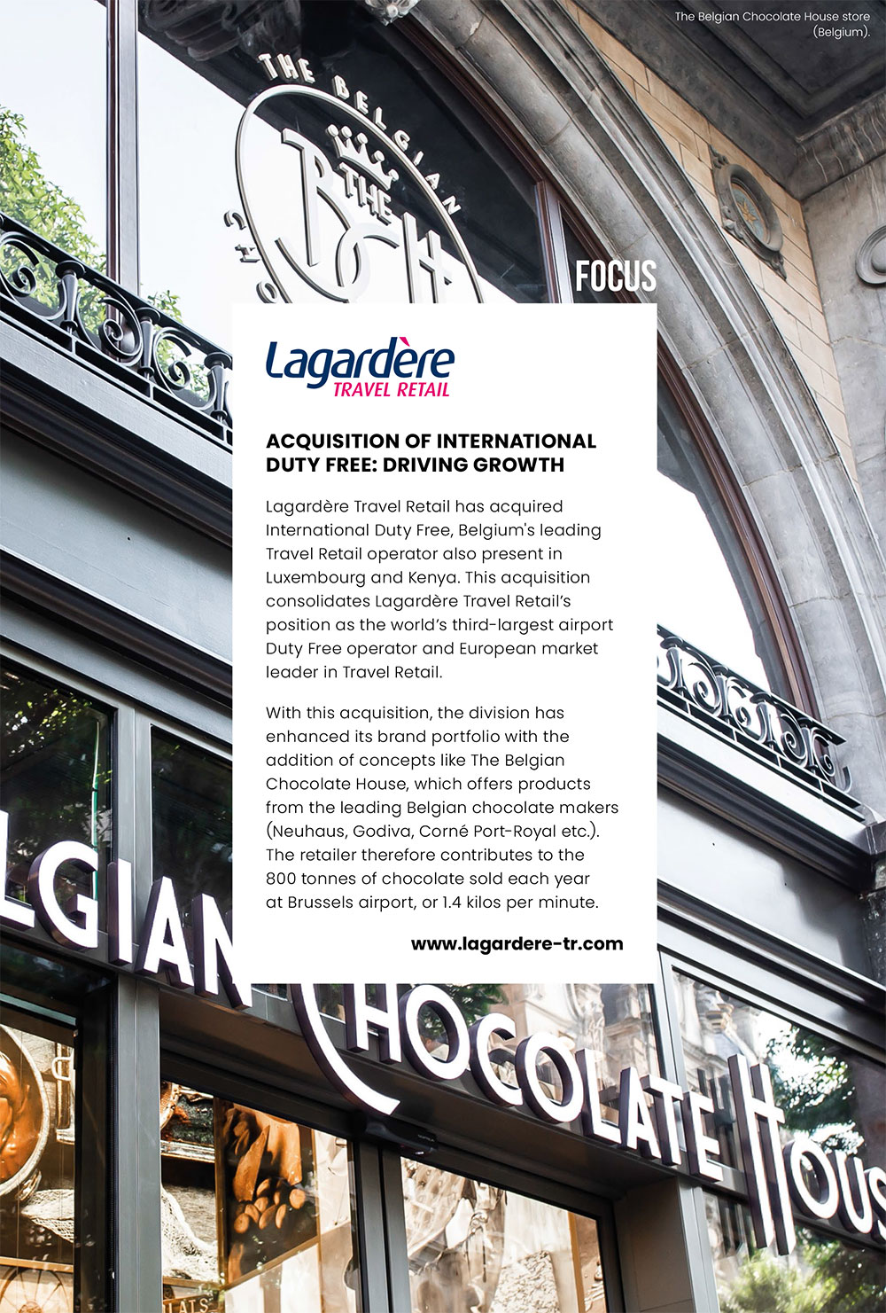 Lagardère Travel Retail: The Belgian Chocolate House store