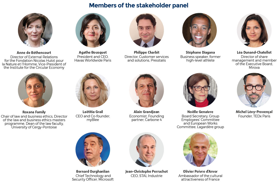 Members of the stakeholder panel