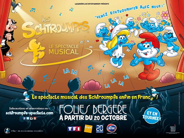 """Résultat de recherche d'images pour """"les schtroumpfs spectacle musical paris"""""""